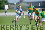 In Action KOR's David Moran and S'Kerry's Mathew O'Sullivan  Bryan Sheehan and Conor O'Shea in the Senior County Football Championship Round 1 Kerins O'Rahillys V South Kerry   at Austin Stack Park on Sunday