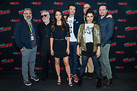 """NEW YORK - OCTOBER 5: Glenn Ficarra, Manny Coto, Fernanda Andrade, Jason Butler Harner, John Requa, Eve Harlow and Michael Mosley attend the press room for FOX's """"neXt"""" during the 2019 NY Comic-Con at the Jacob Javits Convention Center on October 5, 2019 in New York City. (Photo by Anthony Behar/FOX/PictureGroup)"""
