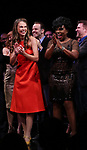 Sutton Foster and Sheryl Lee Ralph during the curtain Call bows for the Actors Fund's 15th Anniversary Reunion Concert of 'Thoroughly Modern Millie' on February 18, 2018 at the Minskoff Theatre in New York City.