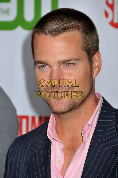 CHRIS O'DONNELL.CBS, CW and Showtime TCA Press Tour Party 2009 held at the Huntington Library, Pasadena, CA, USA..August 3rd, 2009.headshot portrait stubble facial hair  pink blue navy .CAP/ADM/BP.©Byron Purvis/AdMedia/Capital Pictures.