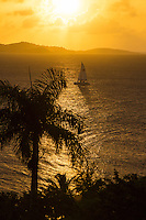 Sunset from the Buccaneer Resort<br />