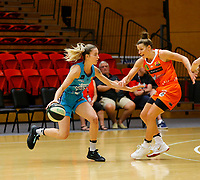 29th November 2019; Bendat Basketball Centre, Perth, Western Australia, Australia; Womens National Basketball League Australia, Perth Lynx versus Southside Flyers; Anneli Maley of the Southside Flyers dribbles at the top of the key - Editorial Use