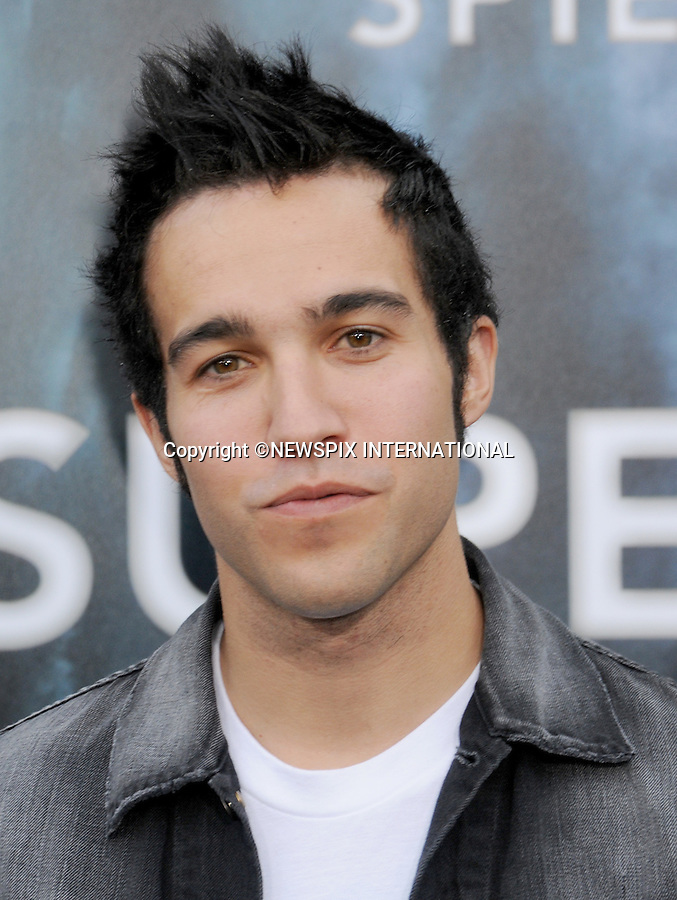 "PETE WENTZ.attends the Los Angeles Premiere of ""Super 8"" at the Regency Village Theater on June 8, 2011, Westwood, California.Mandatory Photo Credit: ©Crosby/Newspix International. .**ALL FEES PAYABLE TO: ""NEWSPIX INTERNATIONAL""**..PHOTO CREDIT MANDATORY!!: NEWSPIX INTERNATIONAL(Failure to credit will incur a surcharge of 100% of reproduction fees)..IMMEDIATE CONFIRMATION OF USAGE REQUIRED:.Newspix International, 31 Chinnery Hill, Bishop's Stortford, ENGLAND CM23 3PS.Tel:+441279 324672  ; Fax: +441279656877.Mobile:  0777568 1153.e-mail: info@newspixinternational.co.uk"