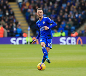 3rd February 2019, King Power Stadium, Leicester, England; EPL Premier League Football, Leicester City versus Manchester United; James Maddison of Leicester City passes the ball out wide