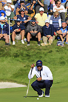 Tiger Woods (Team USA) on the 11th green during Saturday's Foursomes Matches at the 2018 Ryder Cup 2018, Le Golf National, Ile-de-France, France. 29/09/2018.<br /> Picture Eoin Clarke / Golffile.ie<br /> <br /> All photo usage must carry mandatory copyright credit (&copy; Golffile | Eoin Clarke)
