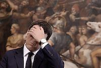 Roma, 17 Settembre 2015<br /> Matteo Renzi.<br /> Il presidente del Consiglio ha ricevuto a Palazzo Chigi il Primo ministro del Granducato di Lussemburgo.
