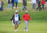 Jon Rahm (ESP) on the 16th fairway during Round 4 of the Open de Espana 2018 at Centro Nacional de Golf on Sunday 15th April 2018.<br /> Picture:  Thos Caffrey / www.golffile.ie<br /> <br /> All photo usage must carry mandatory copyright credit (&copy; Golffile | Thos Caffrey)