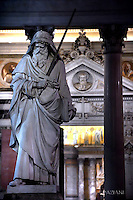 Saint Paul basilica in Rome,Pope Francis Celebration of the second vespers of Saint Paul basilica in Rome. January 25, 2017