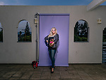 RESEDA, CA. May 30, 2017- Tracee Meltzer, a.k.a., Roxy Astor of the cast of the 1980s television wrestling program GLOW (Gorgeous Ladies of Wrestling) poses for a portrait at her home in Reseda, California on Tuesday, May 30, 2017. (Photo by Brinson+Banks/FTWP)