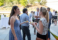 The Office of National and International Fellowships hosts the 2018 annual Fellowships Reception. Students, alumni, faculty, and celebrated this year's applicants with food and socializing. April 25, 2018 on the Hameetman Career Center patio.<br /> (Photo by Marc Campos, Occidental College Photographer)
