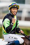 Jockey Vincent Ho Chak-yiu riding #7 Ugly Warrior celebrates after winning the race 9 during Hong Kong Racing at Sha Tin Racecourse on on October 13, 2018 in Hong Kong, Hong Kong. Photo by Yu Chun Christopher Wong / Power Sport Images