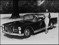 BNPS.co.uk (01202 558833)<br /> Pic: Coys/BNPS<br /> <br /> Gardner with her new car in 1958.<br /> <br /> A rare and exclusive luxury car first owned by famous Hollywood actress Ava Gardner has emerged for sale for £160,000.<br /> <br /> Named after the then brightest star in the heavens, the French Facel 'Vega' Excellence was bought new by Gardner in 1958, at the height of her fame and shortly after divorcing legendary crooner Frank Sinatra.<br /> <br /> Exorbitantly expensive for the time, only 156 of the 140mph Chrysler V8 powered cars were ever built before the Paris based company went out of business in 1964.<br /> <br /> Coys of Kensington are auctioning the rare survivor from Hollywood's golden age on 12th January.