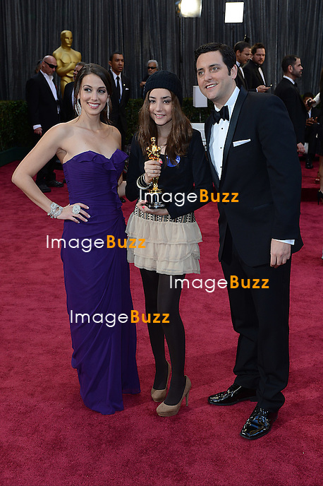Angie Greenup, Ben Gleib and Sofia Alves arriving for the 85th Academy Awards at the Dolby Theatre, Los Angeles.