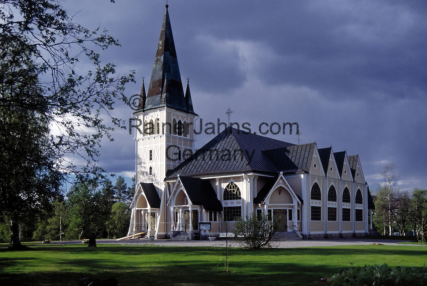 Sweden, Lappland, Arvidsjaur: church   Schweden, Lappland, Arvidsjaur: Kirche