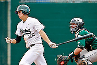 April 23, 2011:    Jacksonville University Dolphins infielder Jimmy Howick (25) during Atlantic Sun Conference action between Stetson Hatters and Jacksonville University Dolphins at John Sessions Stadium in Jacksonville, Florida.  Jacksonville defeated Stetson 10-4...........