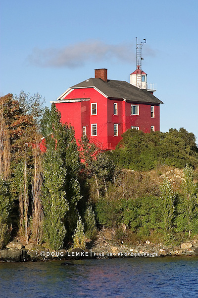 The Historic Marquette Harbor Lighthouse On Lake Superior, Michigan's Upper Peninsula