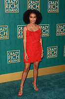 HOLLYWOOD, CA - AUGUST 7: Yara Shahidi at the premiere of Crazy Rich Asians at the TCL Chinese Theater in Hollywood, California on August 7, 2018. <br /> CAP/MPI/DE<br /> &copy;DE//MPI/Capital Pictures