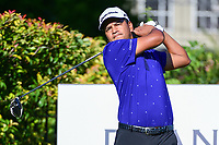 Fabian Gomez (ARG) watches his tee shot on 15 during the round 1 of the Dean &amp; Deluca Invitational, at The Colonial, Ft. Worth, Texas, USA. 5/25/2017.<br /> Picture: Golffile | Ken Murray<br /> <br /> <br /> All photo usage must carry mandatory copyright credit (&copy; Golffile | Ken Murray)