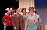 Kevin Robert White - Josh Meredith - Bethany Edlund - Melissa Cotton - Cast star in Hello Dolly at the Barn Theatre iin its 68th season n Augusta, Michigan on opening night on August 19, 2014 at the curtain call. (Photo by Sue Coflin/Max Photos)