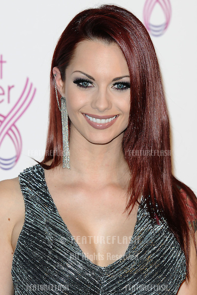 Jessica Jane Clement arriving for the Breast Cancer Care Fashion Show, Grosvenor House Hotel, London. 02/10/2012 Picture by: Steve Vas / Featureflash