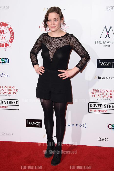 Julia Hart at the 38th Annual London Critics' Circle Film Awards at the Mayfair Hotel, London, UK. <br /> 28 January  2018<br /> Picture: Steve Vas/Featureflash/SilverHub 0208 004 5359 sales@silverhubmedia.com