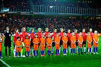 GRONINGEN -  Voetbal, Nederland - Noorwegen, Noordlease stadion, WK kwalificatie vrouwen, 24-10-2017,    line up Noorwegen