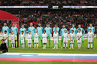 Equipe<br /> <br /> Slovenia line up before the FIFA World Cup 2018 Qualifying Group F match between England and Slovenia at Wembley Stadium on October 5th 2017 in London, England. <br /> Calcio Inghilterra - Slovenia Qualificazioni Mondiali <br /> Foto Phcimages/Panoramic/insidefoto