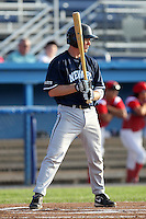 Newark Pilots, of the Perfect Game Collegiate Baseball League, shortstop Josh Crowdus #5 during an exhibition game against the Batavia Muckdogs at Dwyer Stadium on June 15, 2012 in Batavia, New York.  Batavia defeated Newark 8-0.  (Mike Janes/Four Seam Images)