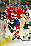 20 February 2009: University of Massachusetts Lowell River Hawks' forward Scott Campbell, a Sophomore from Navan, Ontario, in action against the University of Vermont Catamounts at Gutterson Fieldhouse in Burlington, Vermont. The teams battled to a 3-3 tie. Mandatory Photo Credit: Ed Wolfstein Photo