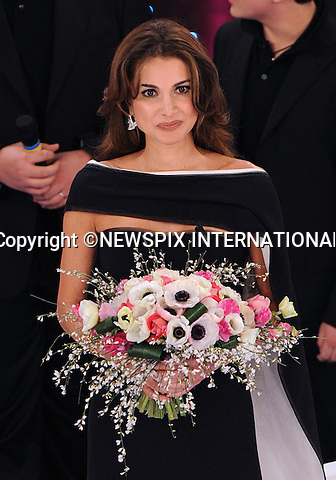 "QUEEN RANIA.2nd Night of the 60th Festival of Italian Song, San Remo, Italy_17/02/2010.Mandatory Credit Photo: ©NEWSPIX INTERNATIONAL..**ALL FEES PAYABLE TO: ""NEWSPIX INTERNATIONAL""**..IMMEDIATE CONFIRMATION OF USAGE REQUIRED:.Newspix International, 31 Chinnery Hill, Bishop's Stortford, ENGLAND CM23 3PS.Tel:+441279 324672  ; Fax: +441279656877.Mobile:  07775681153.e-mail: info@newspixinternational.co.uk"
