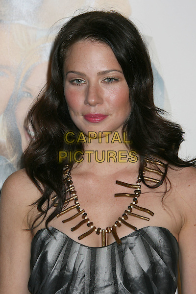 "LYNN COLLINS.""Marley & Me"" Los Angeles Premiere held at the Mann Village Theater, Westwood, California, USA..December 11th, 2008.headshot portrait black silver pleats pleated strapless necklace  .CAP/ADM/MJ.©Michael Jade/AdMedia/Capital Pictures."