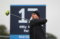 Tjornborn Olesen (DEN) on the 17th tee during the 2015 Alfred Dunhill Links Championship at the Old Course in St. Andrews in Scotland on 4/10/15.<br /> Picture: Thos Caffrey | Golffile
