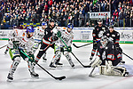 Nuernberg gewinnt knapp gegen Augsburg im Spiel der DEL, Nuernberg Ice Tigers (dunkel) - Augsburger Panther (hell).<br /> <br /> Foto © PIX-Sportfotos *** Foto ist honorarpflichtig! *** Auf Anfrage in hoeherer Qualitaet/Aufloesung. Belegexemplar erbeten. Veroeffentlichung ausschliesslich fuer journalistisch-publizistische Zwecke. For editorial use only.