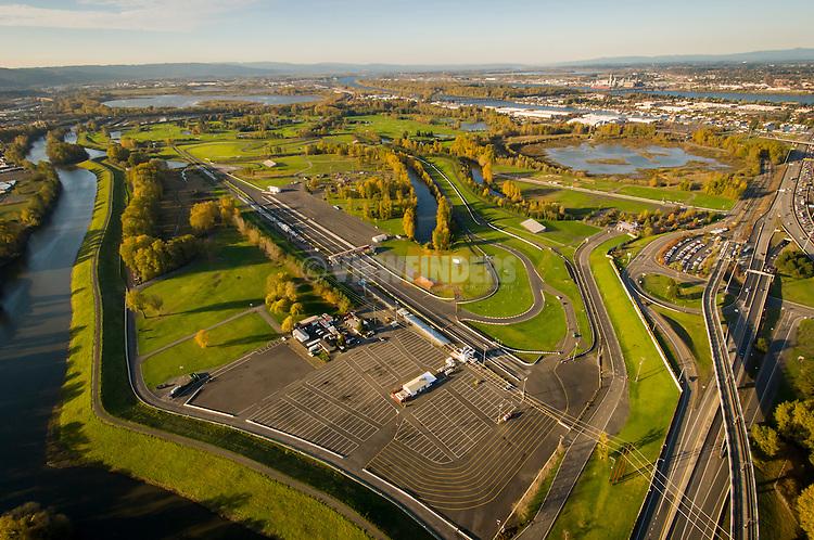Aerial of Portland International Raceway.