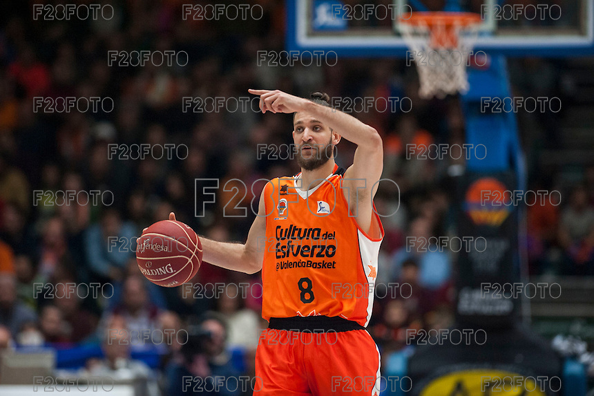 VALENCIA, SPAIN - FEBRUARY 28: Antoine Diop during ENDESA LEAGUE match between Valencia Basket Club and Real Madrid at Fonteta Stadium on   February, 2016 in Valencia, Spain