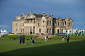 2nd October 2017, The Old Course, St Andrews, Scotland; Alfred Dunhill Links Championship golf practice round; The R&A clubhouse and 18th green on the Old Course, St Andrews,