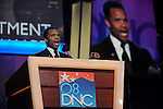Congressman Jesse Jackson, Jr. of Illinois speaks at the Democratic National Convention at the Pepsi Center in Denver, Colorado on August 25, 2008.