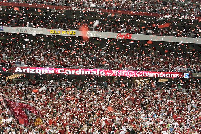 1/18/09 -- University of Phoenix Stadium -- Arizona Cardinals vs SPhiladelphia Eaglesat University of Phoenix Stadium.  Photo by Gene Lower.