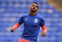 7th July 2020; Madejski Stadium, Reading, Berkshire, England; English Championship Football, Reading versus Huddersfield; Karlan Grant of Huddersfield warms up