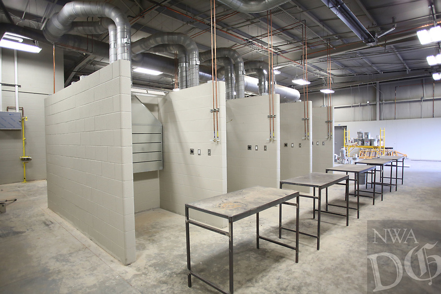 NWA Democrat-Gazette/DAVID GOTTSCHALK   The new vocational skills classroom at the new Farmington High School Friday, July 14, 2017. Classes will be begin at the new school this August.