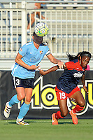 Boyds, MD - Saturday June 25, 2016: Christie Rampone, Crystal Dunn during a United States National Women's Soccer League (NWSL) match between the Washington Spirit and Sky Blue FC at Maureen Hendricks Field, Maryland SoccerPlex.