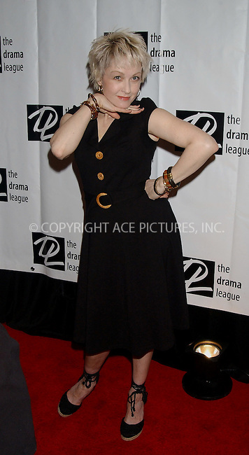 WWW.ACEPIXS.COM . . . . .....NEW YORK, MAY 5, 2006....Cyndi Lauper at the 72nd Annual Drama League Awards Ceremony and Luncheon.....Please byline: KRISTIN CALLAHAN - ACEPIXS.COM.. . . . . . ..Ace Pictures, Inc:  ..(212) 243-8787 or (646) 679 0430..e-mail: picturedesk@acepixs.com..web: http://www.acepixs.com