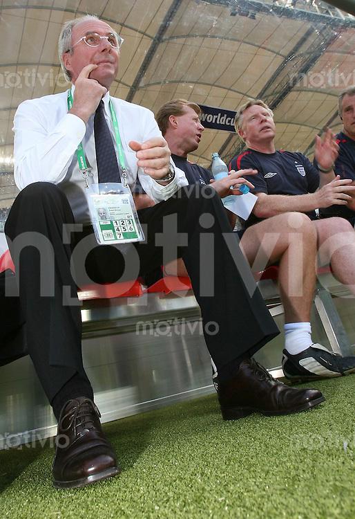 Fussball WM 2006  Achtelfinale  England - Ecuador Trainer Sven Goran Eriksson (ENG)