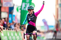 Picture by Alex Whitehead/SWpix.com - 27/05/2018 - Cycling - OVO Energy Tour Series Women's Race - Round 5: Aberystwyth - Anna Henderson of Team OnForm celebrates the win.