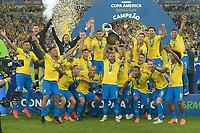 Rio de Janeiro (RJ), 07/07/2019 - Copa América / Final / Brasil x Peru -   Jogadores do  Brasil comemoram título da Copa América no Estádio do Maracanã no Rio de Janeiro neste domingo, 07. (Foto: Clever Felix/Brazil Photo Press)