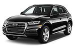 2018 Audi Q5 Prestige 5 Door SUV angular front stock photos of front three quarter view