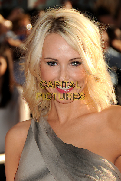 """Josie Bissett.""""Captain America: The First Avenger"""" Los Angeles Premiere held at the El Capitan Theatre, Hollywood, California, USA..July 19th, 2011.headshot portrait grey gray one shoulder pink lipstick smiling  .CAP/ADM/BP.©Byron Purvis/AdMedia/Capital Pictures."""