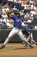 Texas left handed pitcher Darren Oliver starts against the Royals at Kauffman Stadium in Kansas City, Missouri on September 2, 2001.  The Rangers won 12-6.