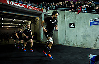 Sam Whitelock runs out for the Rugby Championship rugby union match between the New Zealand All Blacks and South Africa Springboks at Westpac Stadium in Wellington, New Zealand on Saturday, 27 July 2019. Photo: Dave Lintott / lintottphoto.co.nz
