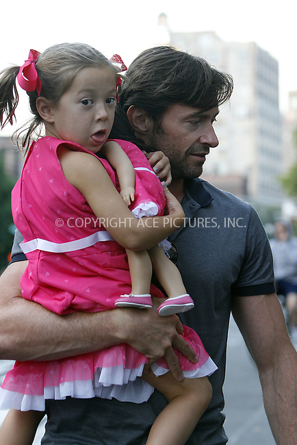 WWW.ACEPIXS.COM . . . . .  ....July 10 2009, New York City....Actor Hugh Jackman, with daughter Ava, had lunch with his family at Da Silvano in Soho on July 10 2009 in New York City....Please byline: NANCY RIVERA- ACE PICTURES.... *** ***..Ace Pictures, Inc:  ..tel: (212) 243 8787 or (646) 769 0430..e-mail: info@acepixs.com..web: http://www.acepixs.com